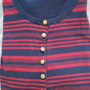 Navy and Red Cardigan